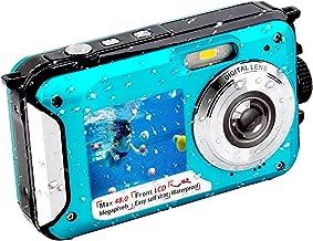 دوربین زیر آب FHD 2.7K 48 MP دوربین دیجیتال ضد آب دوربین سلفی صفحه نمایش دو رنگ کامل LCD نمایشگر دوربین دیجیتال ضد آب برای غواصی (806BC)