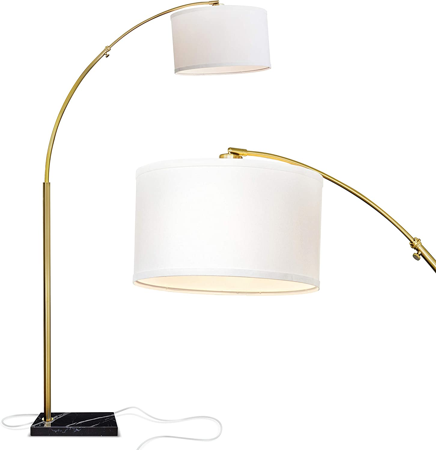 Brightech Max 84% OFF Logan - Contemporary Max 54% OFF Arc Floor w. Lamp Base O Marble