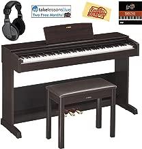 Yamaha Arius YDP-103 Console Digital Piano - Dark Rosewood Bundle with Furniture Bench, Headphones, Online Lessons, Austin Bazaar Instructional DVD, and Polishing Cloth