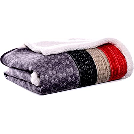 Eddie Bauer Brushed Fleece Collection Throw Blanket Reversible Sherpa Cover Soft Cozy Perfect For Bed Or Couch Fair Isle Dark Steel Home Kitchen