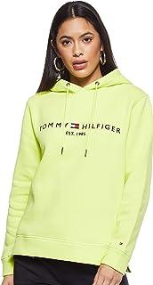 Tommy Hilfiger Women's ESS Long Sleeve Hoodie, Yellow, Medium