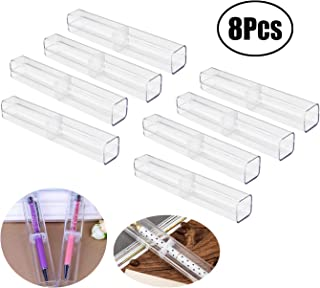 Lvcky 8Pcs Plastic Clear Ballpoint Pen Gift Box Pencil Boxes Empty Bulk Case Collection Set for Business School( )