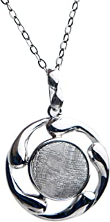 Natural Gibeon Iron Meteorite Gemstone Silver Plated Fashion Pendant Necklace