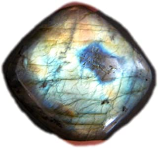 RASIO Cabujón de labradorita llamativo, forma ovalada, hermoso cabujón de diseñador, piedra preciosa de labradorita natura...