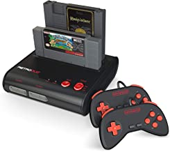 Retro-Bit Retro Duo 2 in 1 Console System – for Original NES and SNES Games – Black/Red