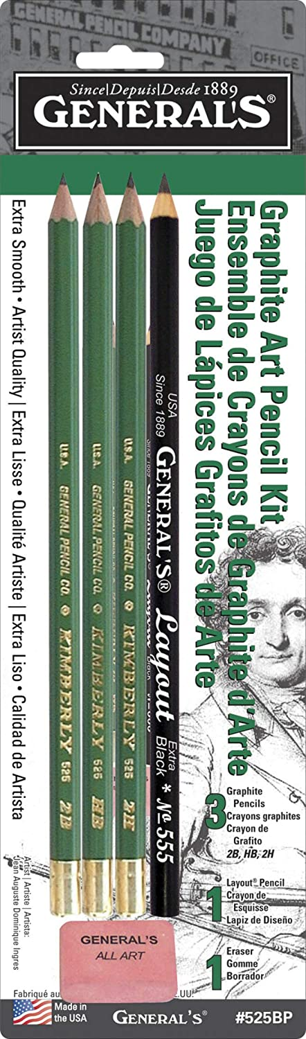 Fixed price for sale Generals Mini Drawing Kit - Set 2021 spring and summer new 3 of 5 Pencils Includes