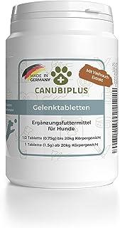CANUBIPLUS Gelenktabletten für Hunde mit Grünlippmuschel, Weihrauch-Extrakt, MSM, Teufelskralle, Ingwer, Hefe, Curcuma, Vitamin B 12 I Made in Germany I 100 Tabletten für bis zu 6 Monate
