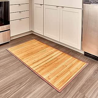iDesign Formbu Bamboo Floor Mat Non-Skid, Water-Repellent Runner Rug for Bathroom, Kitchen, Entryway, Hallway, Office, Mudroom, Vanity, 24