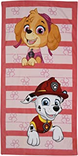 Nickelodeon Official Paw Patrol Skye and Marshall 100% Cotton Beach Towel