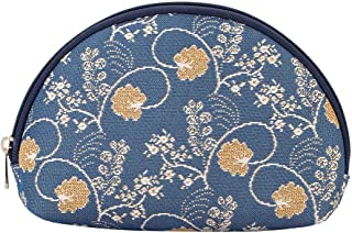 Signare Tapestry Cosmetic Makeup Toiletry Bag Case in Jane Austen Design, Jane Austen Blue (Blue) - 5060376429886