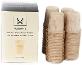 100 Natural Brown K-Carafe Coffee Filter Paper 4 (CUP) for Keurig 2.0 - Refills for Reusable K-Carafe (Natural Brown & Unbleached)