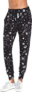 Terez Joggers for Women, Metallic Foil Star Wars Sweatpants, Loose Workout and Yoga Pants