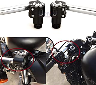 Dasen Fork Tube 3in Extensions For 39mm Harley Davidson Sportster 883 1200 XL Dyna Glide & FXR