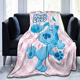 Andea Children's Blue's Clues Dog1 Blanket Flannel Throw Lightweight Cozy Couch Bed Soft and Warm Plush Quilt 50x40 Inch Toddler