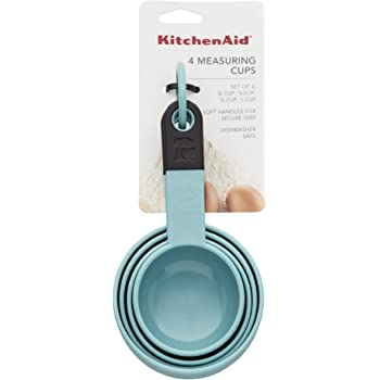 KitchenAid Classic Measuring Cups, Set of 4, Aqua Sky/Black