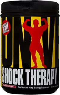 Universal Nutrition Shock Therapy Pre-Workout Pump & Energy Supplement, with BCAA complex, Creatine, and Electrolytes - Ha...