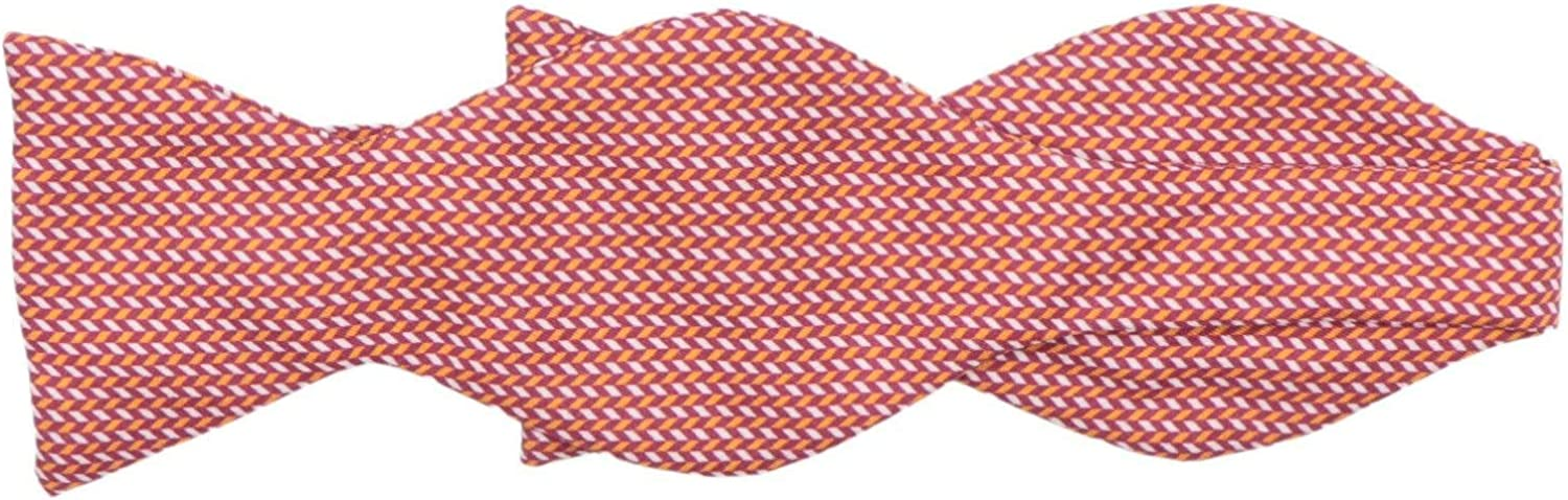 Carrot and Gibbs Men's Herringbone Printed Button Bow Tie
