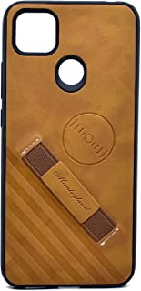 Leather Cover With Holder For Xiaomi Redmi 9C (Brown)