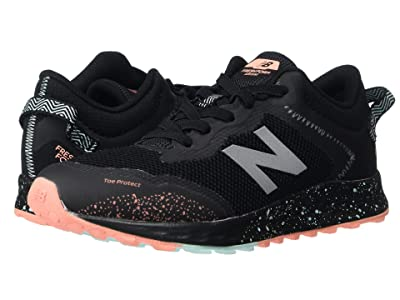 New Balance Kids Fresh Foam Arishi Trail Bungee Lace (Little Kid/Big Kid) (Black/Bali Blue) Girls Shoes