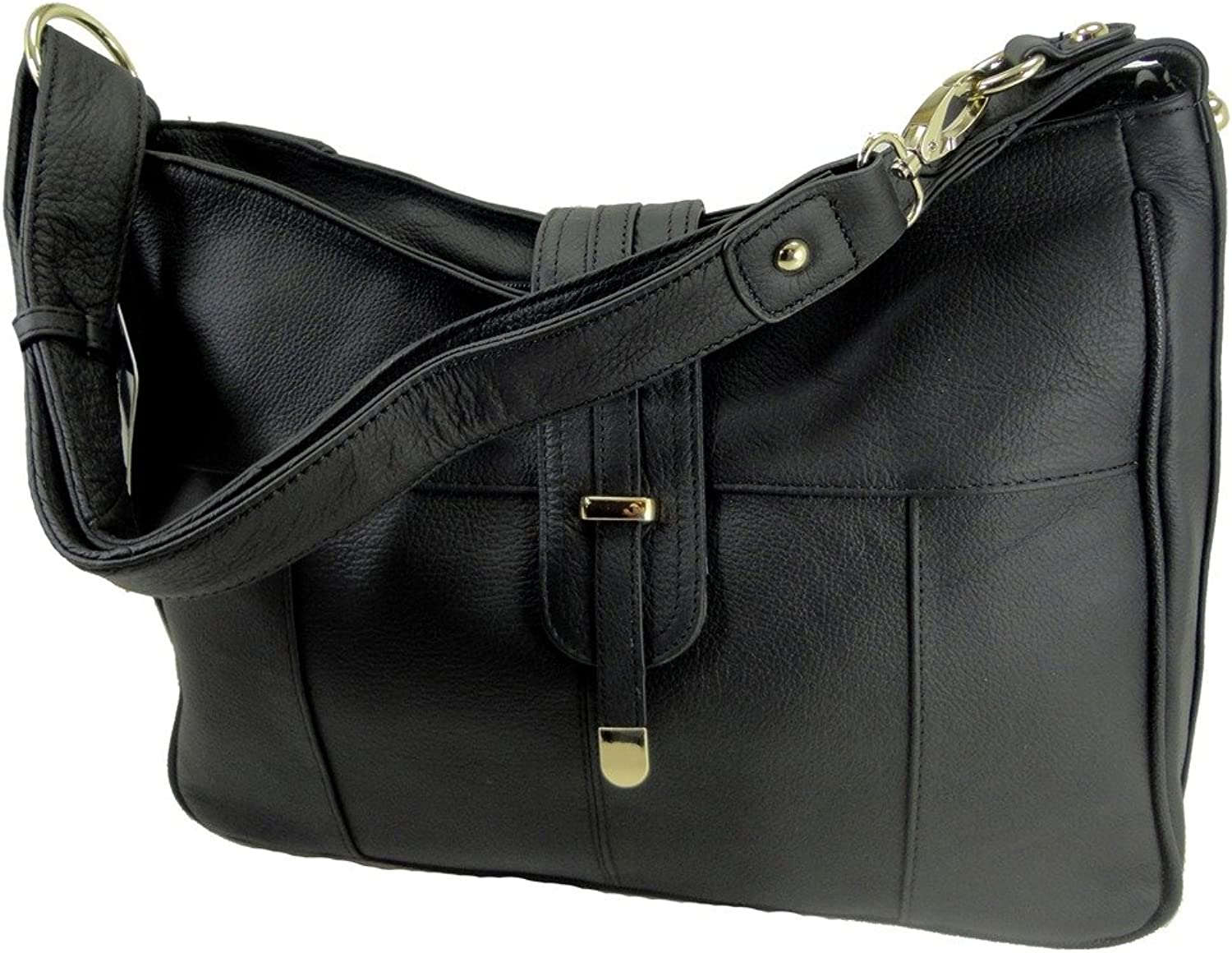 Concealed Carry Gun Purse Shoulder Crossbody Left Right Hand CCW BLACK