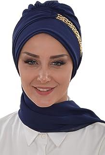 عمامة فورية خفيفة الوزن الشيفون وشاح رأس عمامة للنساء أغطية الرأس