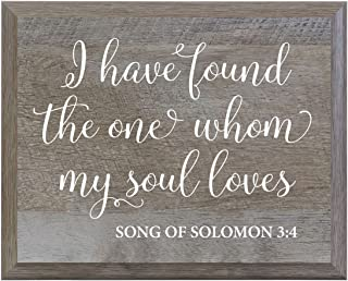 LifeSong Milestones I Have Found The One Whom My True Soul Loves Decorative Wedding Party Signs for Ceremony and Reception for Bride and Groom (8x10)