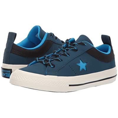 Converse Kids One Star Ox (Little Kid) (Blue Fir/Blue Hero/Black) Boy