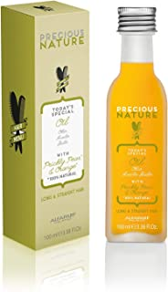 Alfaparf Milano Precious Nature Long & Straight Hair Oil - Enriched with Prickly Pear Oil and Orange Extract - Resists Hum...