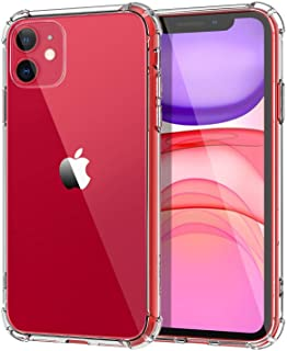 iPhone 11 Case cover Shockproof 6.1 inch TPU Crystal Super Clear Transparent Hard PC Back plus TPU Frame Cases for iPhone ...