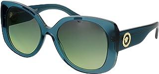 Versace VE4387 53350N Transparent Petroleum Square Sunglasses for Womens