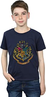 HARRY POTTER niños Hogwarts Distressed Crest Camiseta 12-13 Years Armada