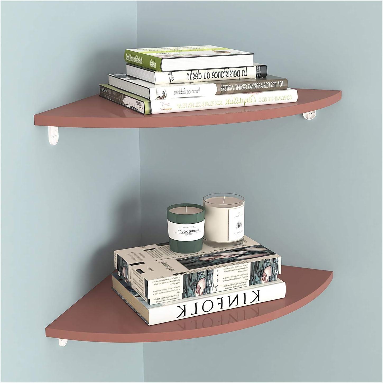 Bookshelf Set of Don't miss the campaign 2 Corner Wall Bookshelves Cheap mail order shopping Floating PVC Shelves