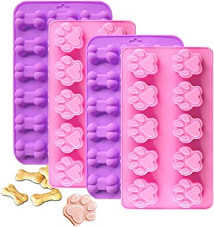 IHUIXINHE Food Grade Silicone Puppy Treat Molds, Ice Cube, Jelly, Biscuits, Chocolate, Candy, Cupcake Baking Mould