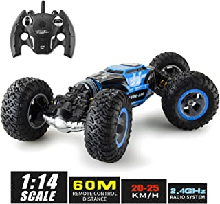 XIXOV 1:14 Remote Control Car, Kids Toys Off Road Transform Racing Car 2.4Ghz 4WD Electric Motors Vehicles Buggy Hobby Car Outdoor for Adults