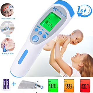 Forehead Thermometer, Digital Thermometer Non Contact Medical Infrared Thermometer for Fever, 3 Modes Body/Surface/Room Baby Thermometer, LCD Display Infrared Thermometer
