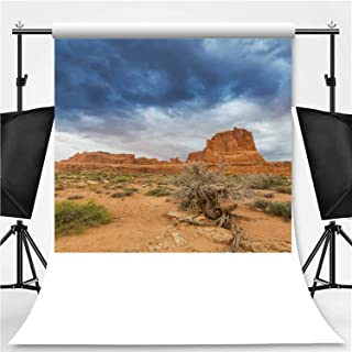 Dramatic Storm Clouds in The Utah Desert Theme Backdrop Photography Backdrop,Arches National Park,3.2x5ft