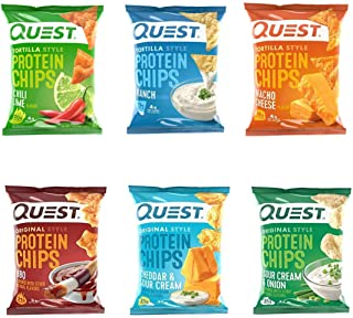 Quest Nutrition Protein Chips Ultimate Variety Pack. Tortilla and Original Style Bundle for Healthy and Savory Snack with ...