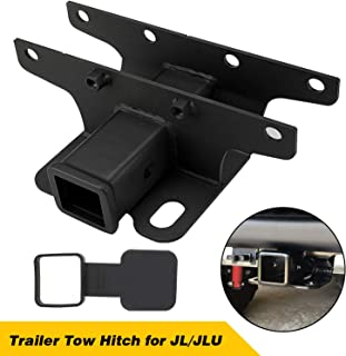 Seven Sparta Towing Trailer Hitch Receiver for 2018-2019 Jeep Wrangler JL/JLU 2 Door & 4 Door with 2 Inch Receiver Hitch