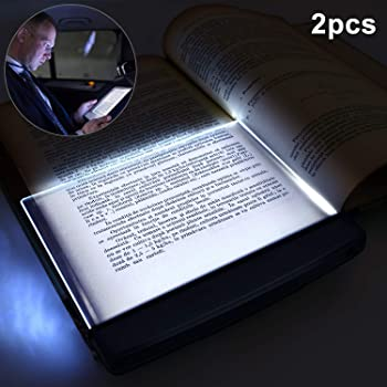 2 Pieces LED Reading Light Night Light Book Family Study Light Eye Care Reading Lamp Portable Bookmark Light for Reading in Bed, Car