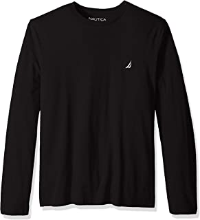 Nautica Men's Long Sleeve Solid Crew Neck T-Shirt
