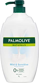 Palmolive Naturals Mild and Sensitive Body Wash Hypoallergenic 0% Parabens Recyclable, 1L