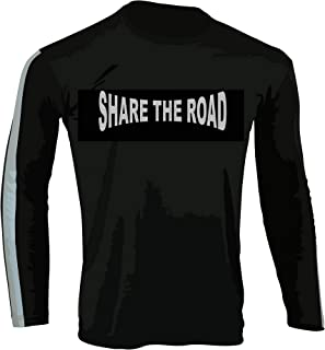 Hugger Glove Company Men's High Visibility Dri Fit Polyester Shirt for Motorcycle Riding, Walking/Running, and Cycling