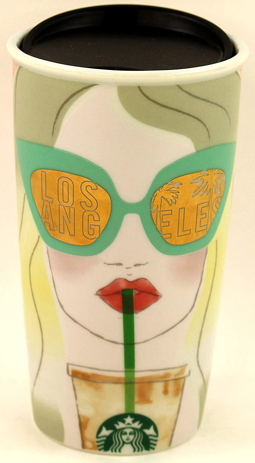 Starbucks LOS ANGELES Traveler 12oz Local Collection Double Wall Ceramic 2016
