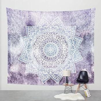 68 x 80 Wall Tapestry Kess InHouse Akwaflorell Pretty Little Flowers2 Blue Lavender Vector