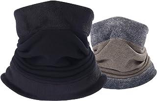 B BINMEFVN Neck Warmer Gaiter - Polar Fleece Cold Weather Face Mask for Men Women - 1 or 2 Pack