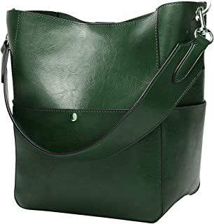 Women's Satchel Hobo Top Handle Tote Shoulder Purse Soft Leather Crossbody Designer Handbag Big Capacity Bucket Bags