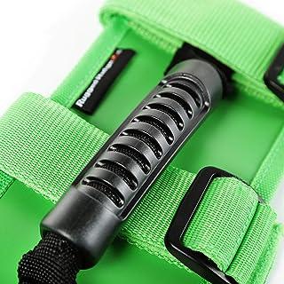 Rugged Ridge 13505.05 Ultimate Grab Handle Kit, Green for 55-current Jeep CJ/Wrangler/Gladiator