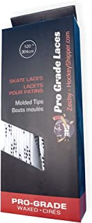 zechy Hockey Laces Waxed - Specifically Made for Skates - One Pair - Sizes (72, 84, 96, 108, 120, 130)