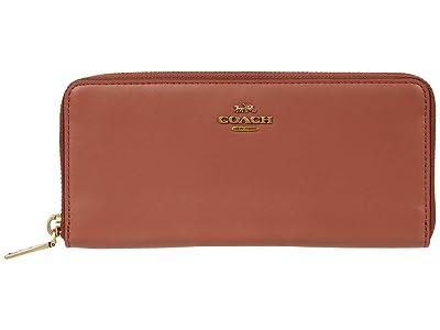 COACH Box Program Smooth Leather Slim Accordion Zip