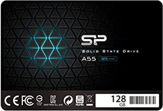 """Silicon Power SSD 128GB 3D NAND A55 SLC Cache Performance Boost 2.5 inch SATA III 7mm (0.28"""") Internal Solid State Drive"""